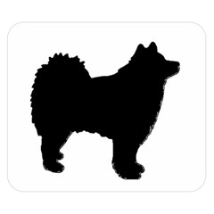 Finnish Lapphund Silhouette Black Double Sided Flano Blanket (Small)