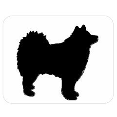 Finnish Lapphund Silhouette Black Double Sided Flano Blanket (Medium)