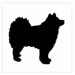 Finnish Lapphund Silhouette Black Large Satin Scarf (Square)