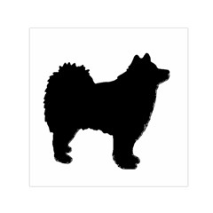 Finnish Lapphund Silhouette Black Small Satin Scarf (Square)