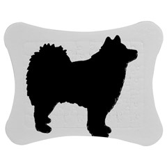 Finnish Lapphund Silhouette Black Jigsaw Puzzle Photo Stand (Bow)