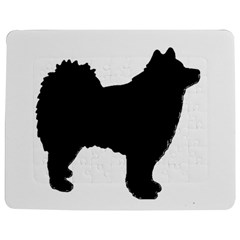 Finnish Lapphund Silhouette Black Jigsaw Puzzle Photo Stand (Rectangular)