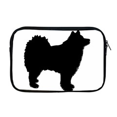 Finnish Lapphund Silhouette Black Apple MacBook Pro 17  Zipper Case