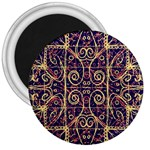 Tribal Ornate Pattern 3  Magnets Front
