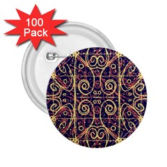 Tribal Ornate Pattern 2.25  Buttons (100 pack)