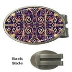 Tribal Ornate Pattern Money Clips (Oval)  Front