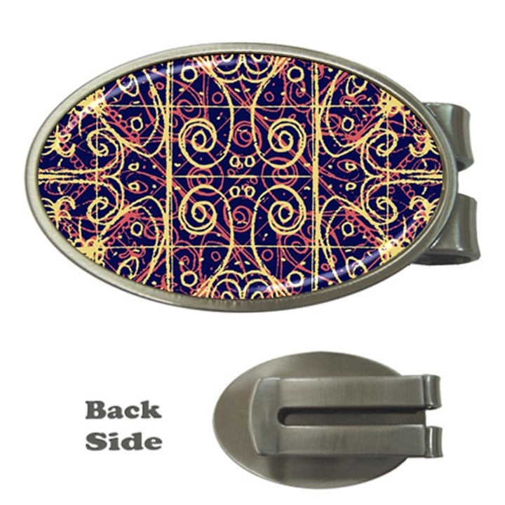 Tribal Ornate Pattern Money Clips (Oval)