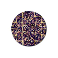 Tribal Ornate Pattern Magnet 3  (Round)