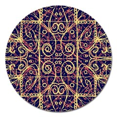 Tribal Ornate Pattern Magnet 5  (Round)