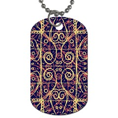 Tribal Ornate Pattern Dog Tag (Two Sides)
