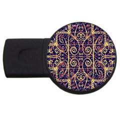 Tribal Ornate Pattern USB Flash Drive Round (2 GB)