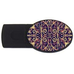 Tribal Ornate Pattern USB Flash Drive Oval (1 GB)