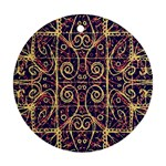 Tribal Ornate Pattern Round Ornament (Two Sides) Back
