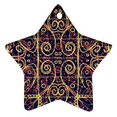 Tribal Ornate Pattern Star Ornament (Two Sides)