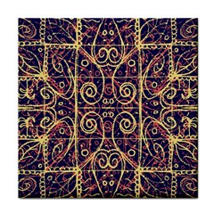 Tribal Ornate Pattern Face Towel