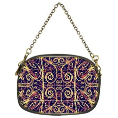 Tribal Ornate Pattern Chain Purses (One Side)