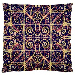 Tribal Ornate Pattern Large Cushion Case (Two Sides)