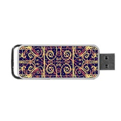 Tribal Ornate Pattern Portable USB Flash (Two Sides)