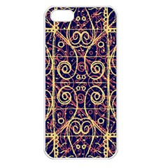 Tribal Ornate Pattern Apple iPhone 5 Seamless Case (White)