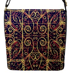 Tribal Ornate Pattern Flap Messenger Bag (S)