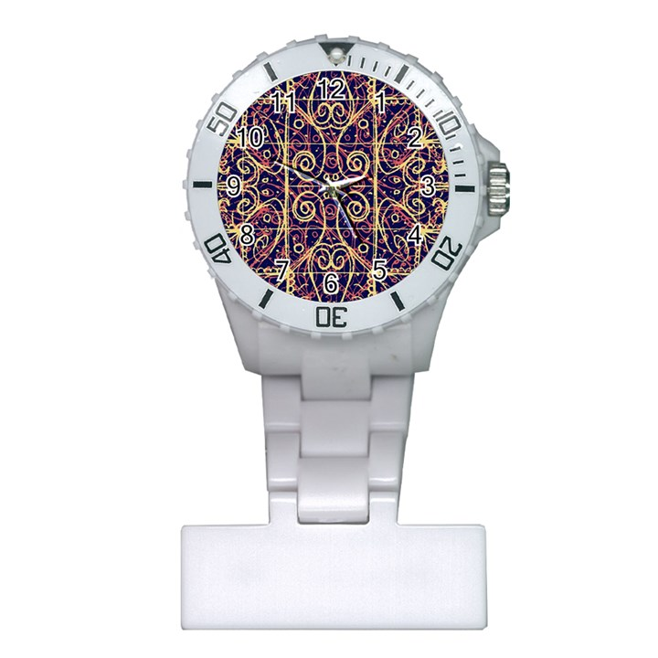 Tribal Ornate Pattern Plastic Nurses Watch
