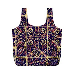 Tribal Ornate Pattern Full Print Recycle Bags (M)