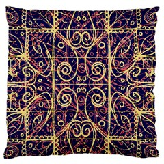 Tribal Ornate Pattern Large Flano Cushion Case (One Side)