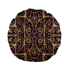 Tribal Ornate Pattern Standard 15  Premium Flano Round Cushions