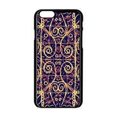 Tribal Ornate Pattern Apple iPhone 6/6S Black Enamel Case