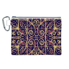Tribal Ornate Pattern Canvas Cosmetic Bag (L)