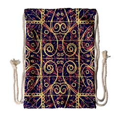 Tribal Ornate Pattern Drawstring Bag (Large)
