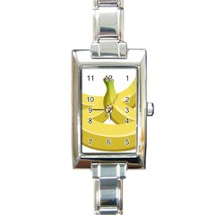 Banana Rectangle Italian Charm Watch