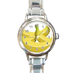 Banana Round Italian Charm Watch