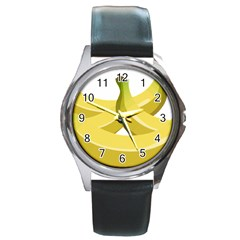 Banana Round Metal Watch
