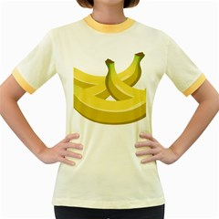 Banana Women s Fitted Ringer T-Shirts