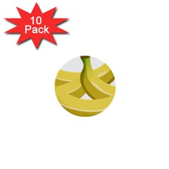 Banana 1  Mini Buttons (10 pack)