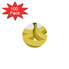 Banana 1  Mini Buttons (100 pack)