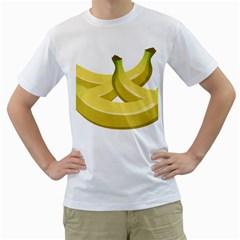 Banana Men s T-Shirt (White) (Two Sided)