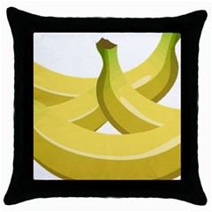 Banana Throw Pillow Case (Black)