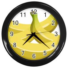 Banana Wall Clocks (Black)