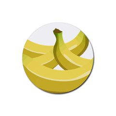 Banana Rubber Round Coaster (4 pack)