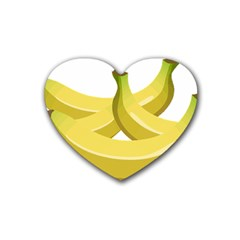 Banana Heart Coaster (4 pack)