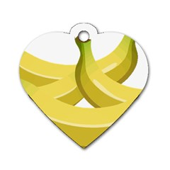 Banana Dog Tag Heart (Two Sides)