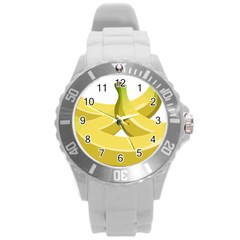 Banana Round Plastic Sport Watch (L)