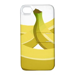 Banana Apple iPhone 4/4S Hardshell Case with Stand