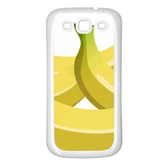 Banana Samsung Galaxy S3 Back Case (White)