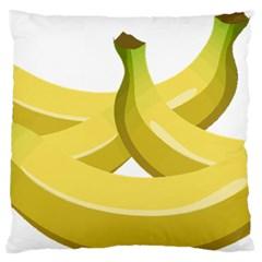 Banana Large Flano Cushion Case (One Side)