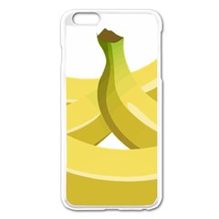 Banana Apple iPhone 6 Plus/6S Plus Enamel White Case