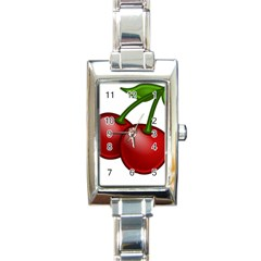 Cherries Rectangle Italian Charm Watch