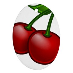 Cherries Ornament (Oval)